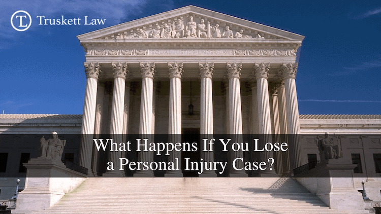 Losing a personal injury case